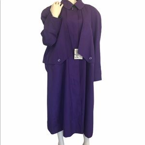 Size 16 Sears Long Purple Raincoat/Trenchc…